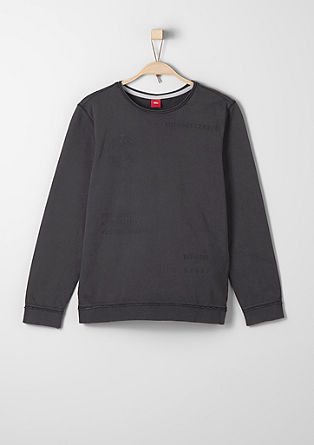 Sweatshirt mit Inside-Out-Print