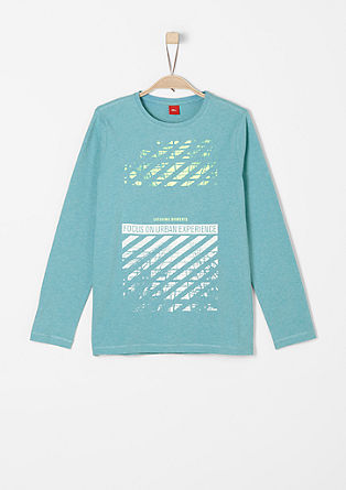 Langarmshirt mit Neon-Print