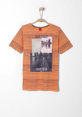 Streifenshirt mit Print-Collage