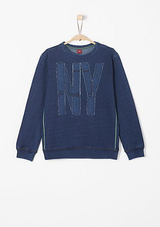 Sweater met applicatie