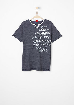 V-neck top with a slogan from s.Oliver
