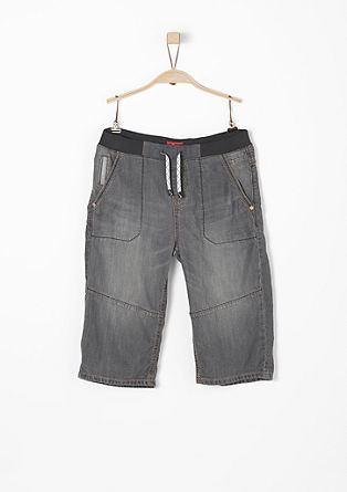 Benno: 3/4-length jeans with a ribbed waistband from s.Oliver