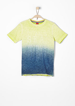 Pigment Dye-Shirt mit Wording