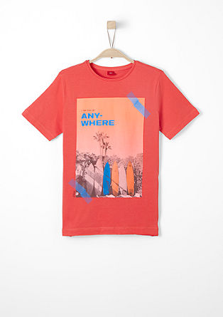 T-shirt with a photo print from s.Oliver