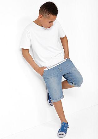 T-Shirt mit offener Saumkante