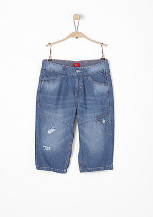 jeans with distressed details from s.Oliver