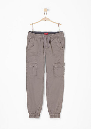 Garment-dyed broek in jogger look