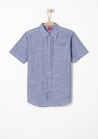 Finely patterned poplin shirt from s.Oliver