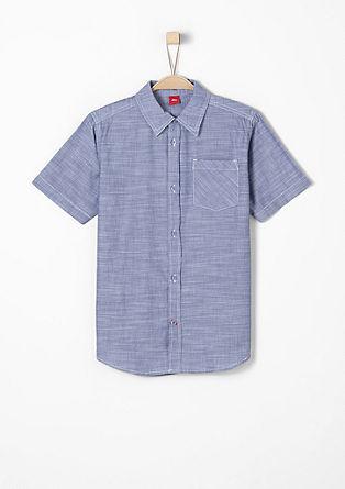 Fein gemustertes Popline-Hemd