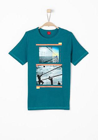 T-Shirt mit sommerlichem Print