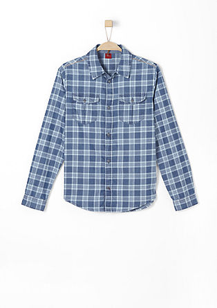 Slim: Check shirt with a garment-washed effect from s.Oliver