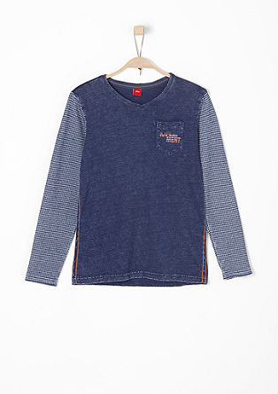 Slub yarn top with a garment-washed effect from s.Oliver