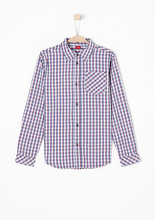 Check shirt with a garment-washed finish from s.Oliver