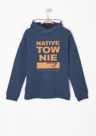 Hooded sweatshirt with a print from s.Oliver