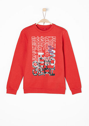 Casual sweatshirt with a print from s.Oliver