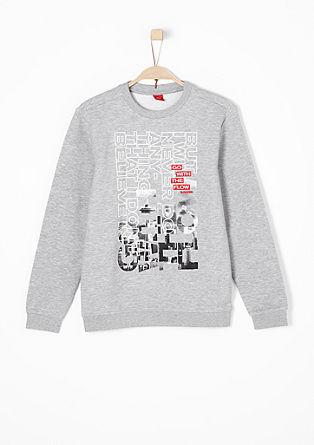 Lässiger Sweater mit Print