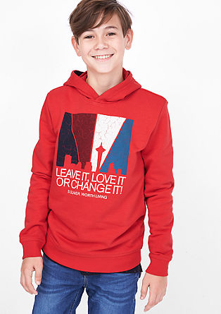 Kapuzensweatshirt mit Print
