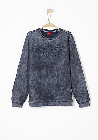 Sweatshirt in Moonwashed-Optik