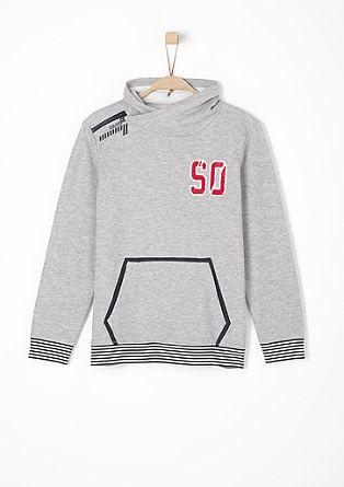 Sweatshirt mit sportiven Details