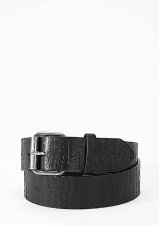 Belt with cool embossing from s.Oliver