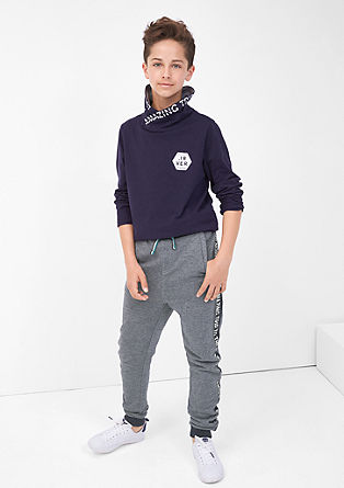 Tracksuit bottoms with printed sides from s.Oliver