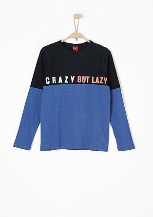 Statement-Shirt mit Colour Blocking
