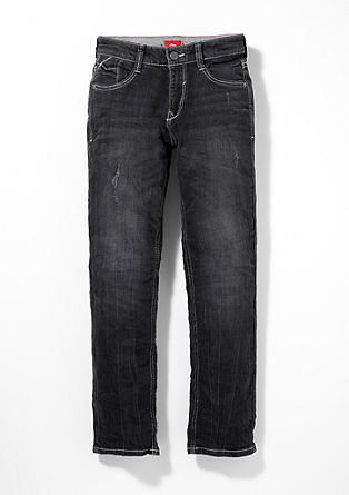 Pete: Dunkle Used-Jeans