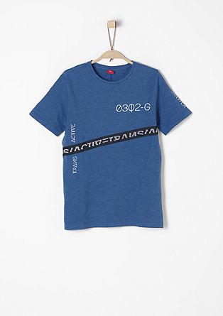 T-Shirt mit Mesh-Streifen