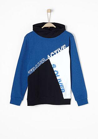 Kapuzen-Sweatshirt im Patchwork-Look