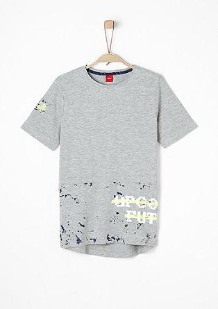 Meliertes Print-Shirt