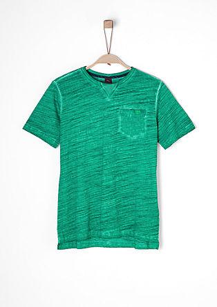 Slub Yarn-Shirt mit Print