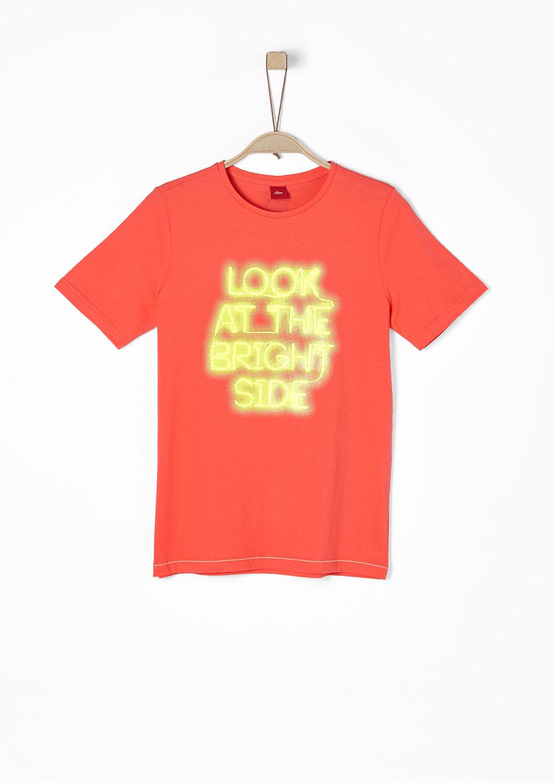 s.Oliver - Jerseyshirt mit Neon-Print - 1