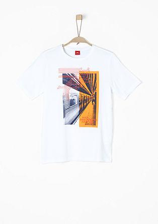 Printshirt aus reiner Baumwolle