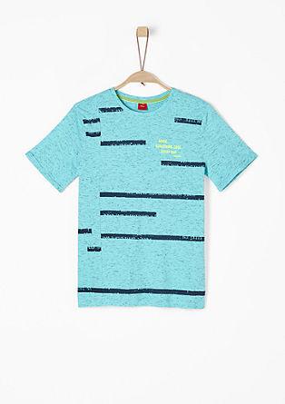 Meliertes Jerseyshirt mit Print
