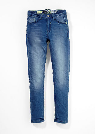 Skinny seattle: luchtige jeans van sweatstof