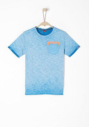 Streifenshirt in Cold Pigment Dye