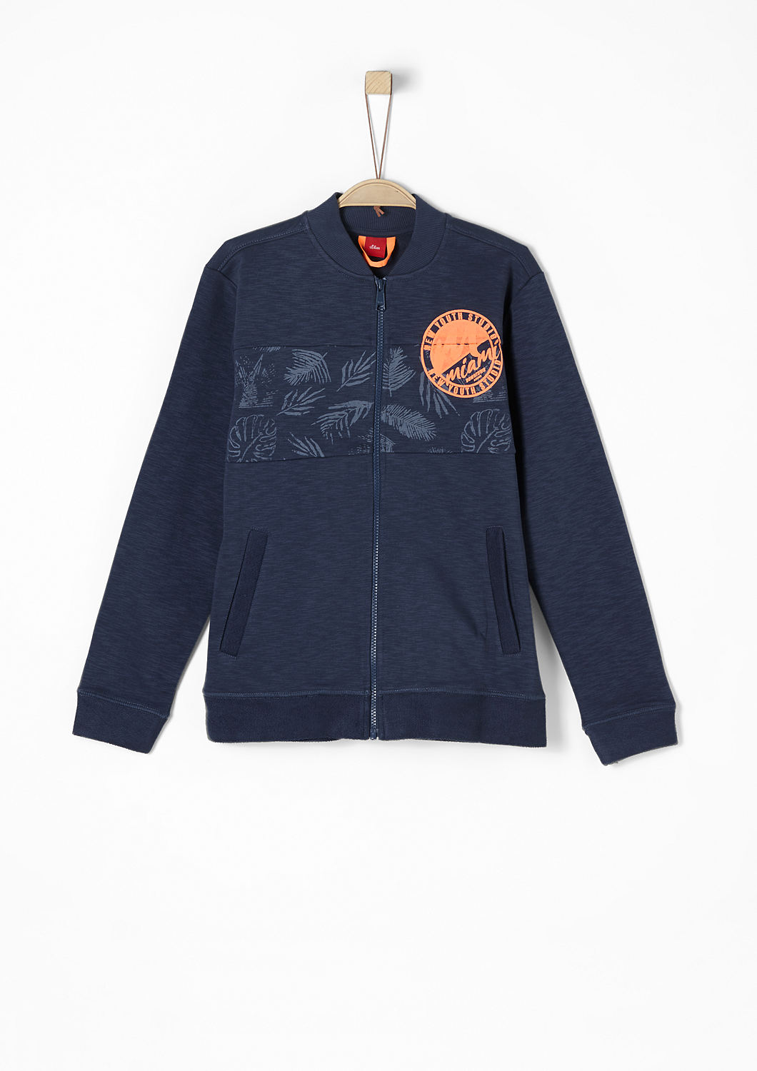 info for 553dd 8abd8 Buy Sweatshirt jacket in a bomber style | s.Oliver shop