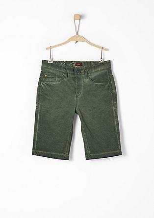 Seattle: bermuda hlače, barvane s hladnim postopkom pigmentiranja