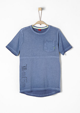 T-Shirt in Cold Pigment Dye