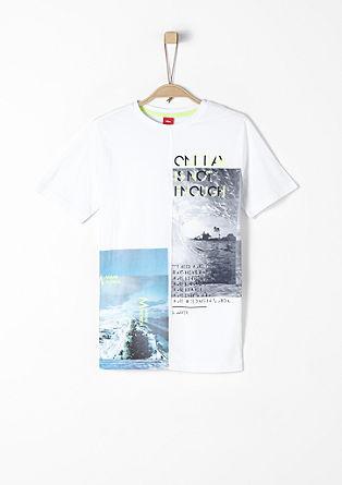 T-Shirt mit Fotoprint und Wording