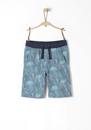 Jersey Bermudas with faded print from s.Oliver