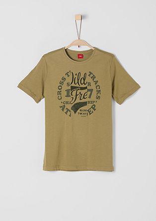 T-Shirt mit Stempel-Print