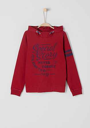 Lightweight hoodie with vintage lettering from s.Oliver