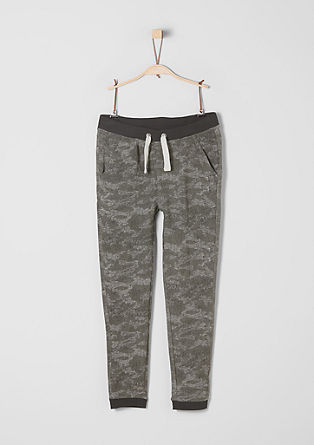 Tracksuit bottoms with a camouflage pattern from s.Oliver