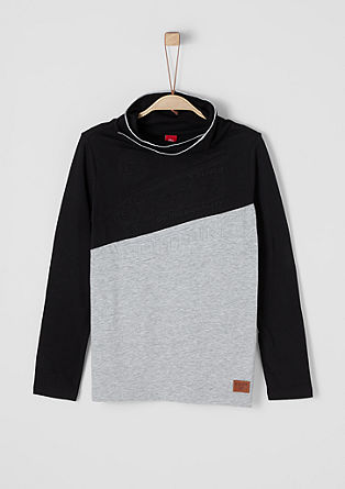 Long sleeve top with colour blocking from s.Oliver