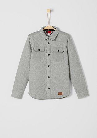 Shirt-style sweatshirt jacket from s.Oliver