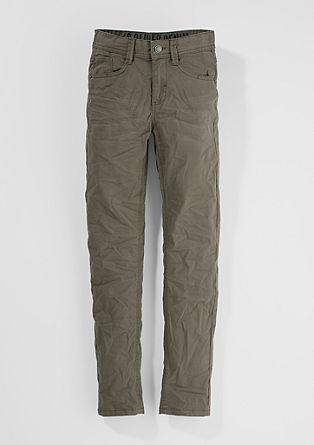 Skinny seattle: minimalistische twill broek