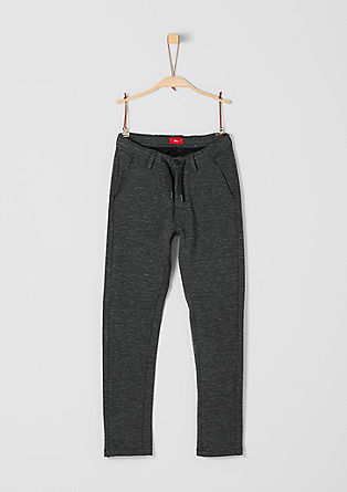 Melange trousers in a tracksuit style from s.Oliver
