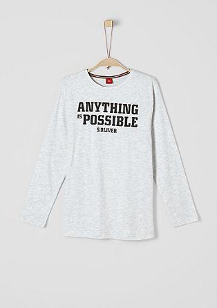 T-shirt à manches longues et imprimé engommé de s.Oliver
