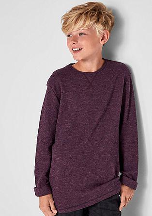 T-shirt à manches longues d'aspect chiné de s.Oliver